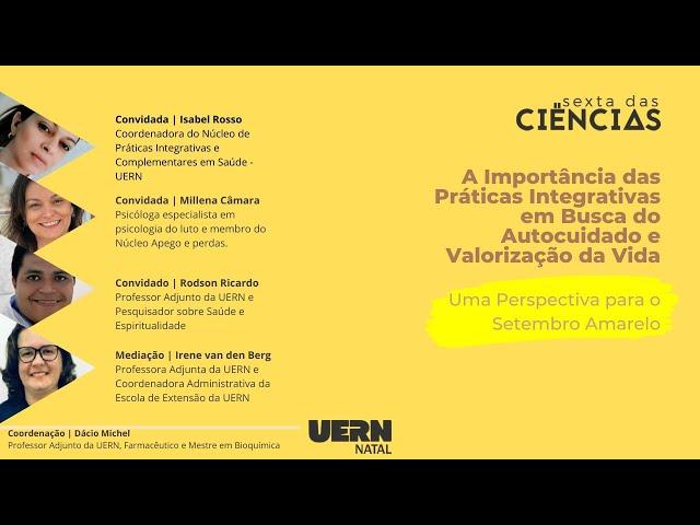 Sexta das Ciências - Setembro Amarelo