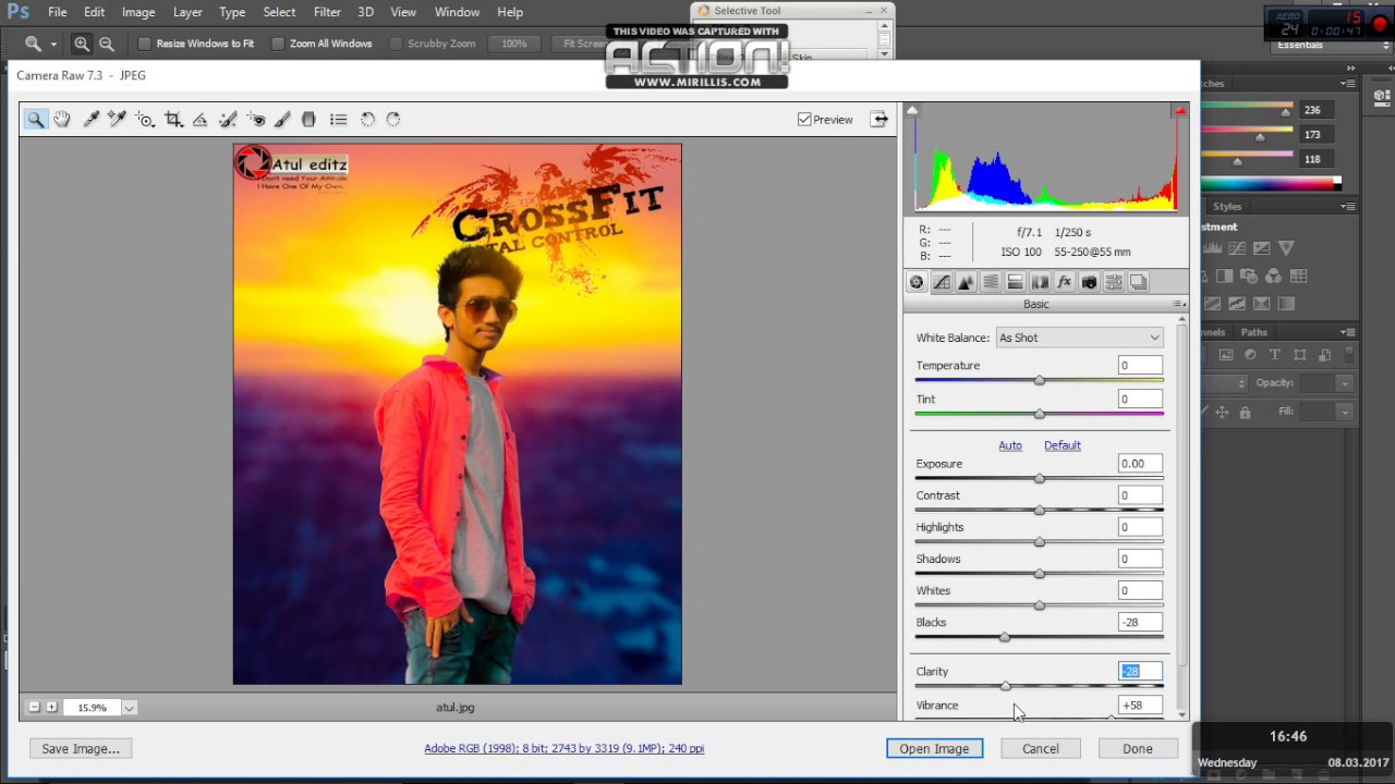 how to open camera raw filter in adobe photoshop cs6[solved]