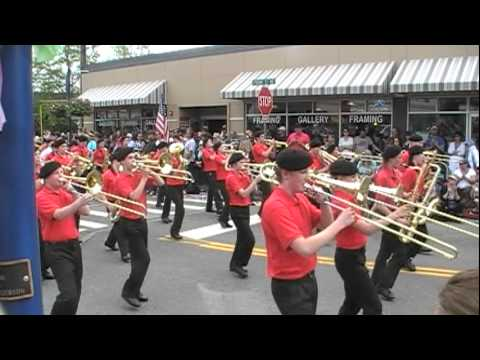Kingston Middle School Cavalier Marching Band - Viking Fest Parade 2012