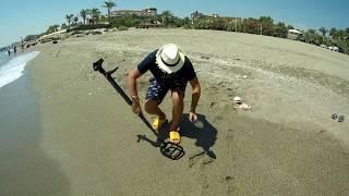 Прошёлся по Турецкому пляжу в обед с металлоискателем