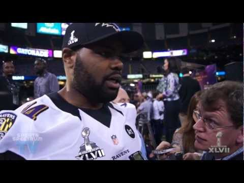 Michael Oher - Super Bowl XLVII Media Day
