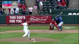 Yusniel Diaz (May 6-8, 2018) vs.  Springfield -- Tulsa Drillers