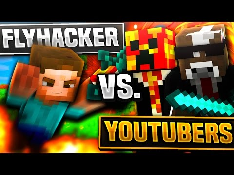 FLY HACKER VS YOUTUBERS!! | Minecraft TEAM SKYWARS