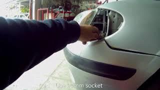 Nissan Almera  (N16 2000–2006)  Front bumper removal