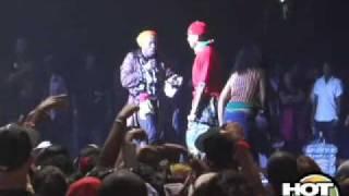Elephant Man and Chris Brown at Hot97's On Da Reggae Tip