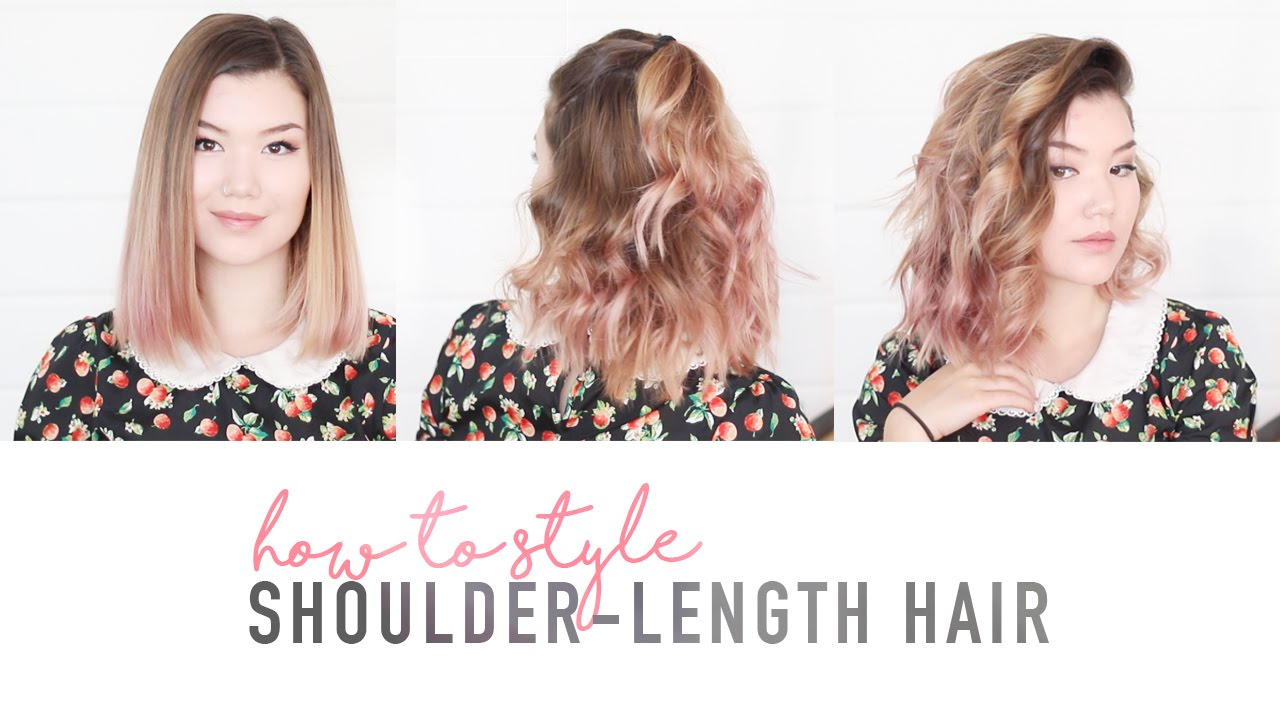 iron hair style how to style shoulder length hair flat iron tutorial 6890
