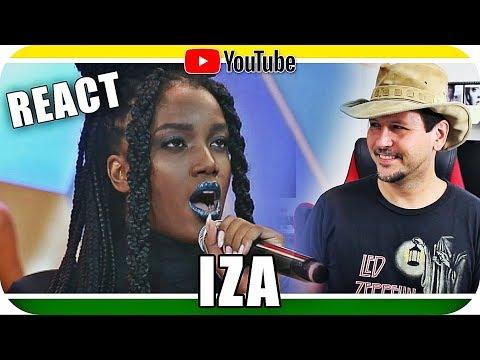 IZA Canta Pesadão Rihanna Sia Lauryn Hill Reagindo React Reação Marcio Guerra Canto
