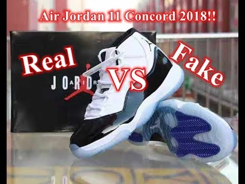 fd320d8f7f3 Real VS Fake Air Jordan 11 Concord Review