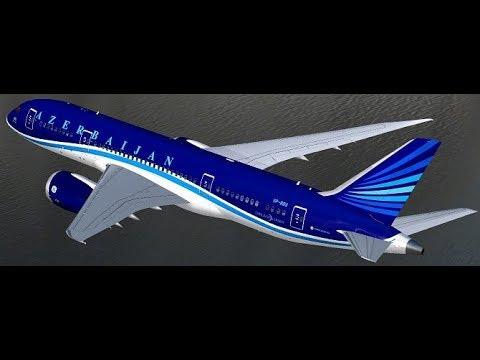 Baku Azerbaijan Heydar Aliyev (UBBB) to New York JFK (KJFK) FSX Azerbaijan Air B787