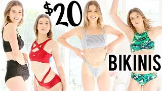 TRYING ON 20 BIKINIS UNDER $20 | Meghan Rienks