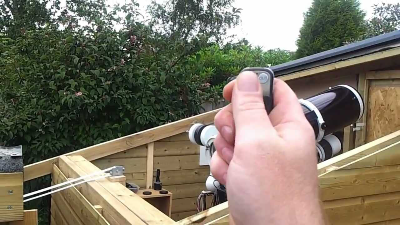 part roll off roof observatory remote controlled youtube