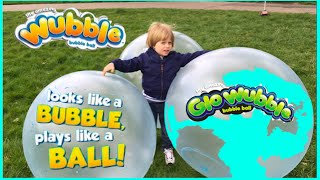wubble bubble ball family fun playtime outside with giant ball kids video alan s toys review