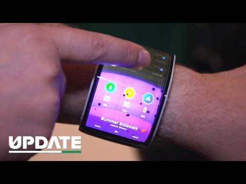 A phone you can bend around your wrist (CNET Update) - YouTube
