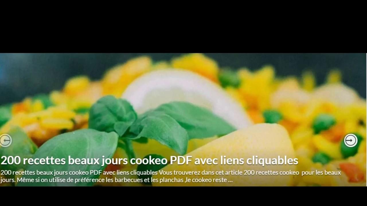 Comment Telecharger Le Pdf 200 Recettes Cookeo Beaux Jours