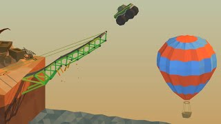 Poly Bridge - MONSTER TRUCK JUMP!