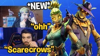 Streamers React to the *NEW* HAY MAN & STRAW OPS SKINS (Scarecrows) Fortnite