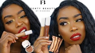 YOO OMG?!! FULL FACE OF NEW FENTY BEAUTY|Demo of the Pro Filt'r Concealers & Powders
