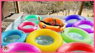 색깔놀이 튜브 물놀이 장난감 놀이 Learn colors with Ring Tube Pretend play | MariAndKids