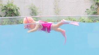 Mainan Boneka Bayi Bisa Berenang Beneran - Baby Doll Can Swim At Swimming Pool