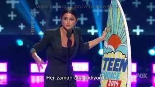 Скачать Selena Gomez TCA 2014 Ödül Konuşması Altyazılı