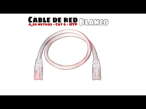 Video de Cable de red UTP CAT6 0.50 M Blanco