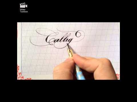 Luyện chữ Ánh Dương - bút viết calligraphy