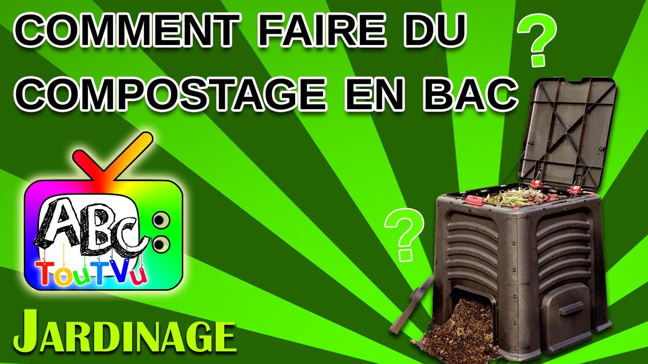 comment faire du compostage en bac youtube. Black Bedroom Furniture Sets. Home Design Ideas