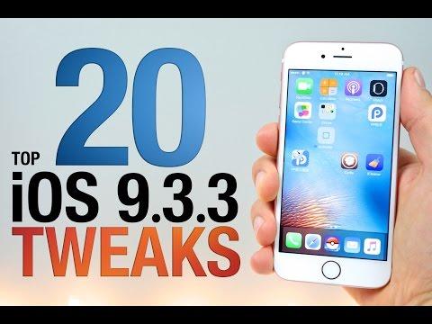 Top 20 iOS 9.3.3 Cydia Tweaks! Pangu Jailbreak Compatible