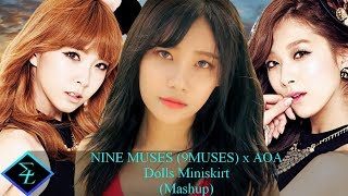 NINE MUSES 9MUSES x AOA Dolls Good luck Mashup