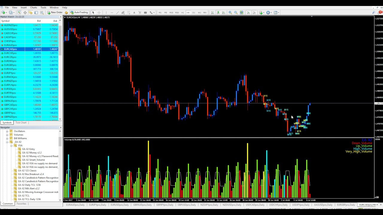 Volume indicator for forex