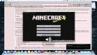 How to play minecraft in full screen mode for Mac (PC has the same ...