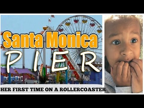 HER FIRST TIME ON ROLLER COASTER - SANTA MONICA PIER
