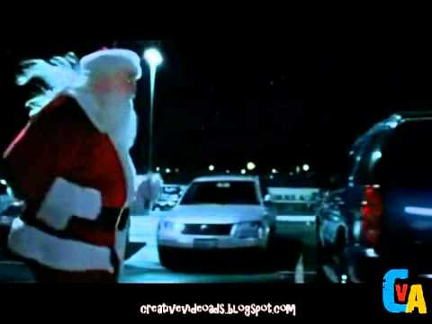 Running Santa Claus -Target Funny commercial