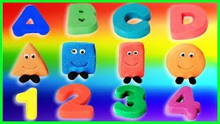 Learn Colors Shapes Numbers and Alphabet for Toddlers - Educational Game for Kids - Preschool Videos