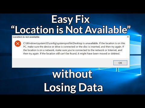 Fix Error Location is Not Available C:\Windows\System32\config\systemprofile\Desktop & Data Recovery