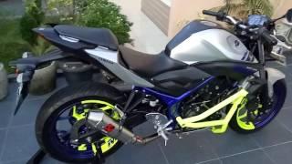 Test knalpot full system Yamaha MT-25