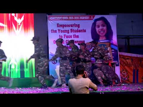 Patriotic Dance on Army by Grade 9 Students