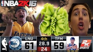 loser has to eat wasabi craziest ending ever huge wager vs lnu nba 2k16 myteam gameplay 17