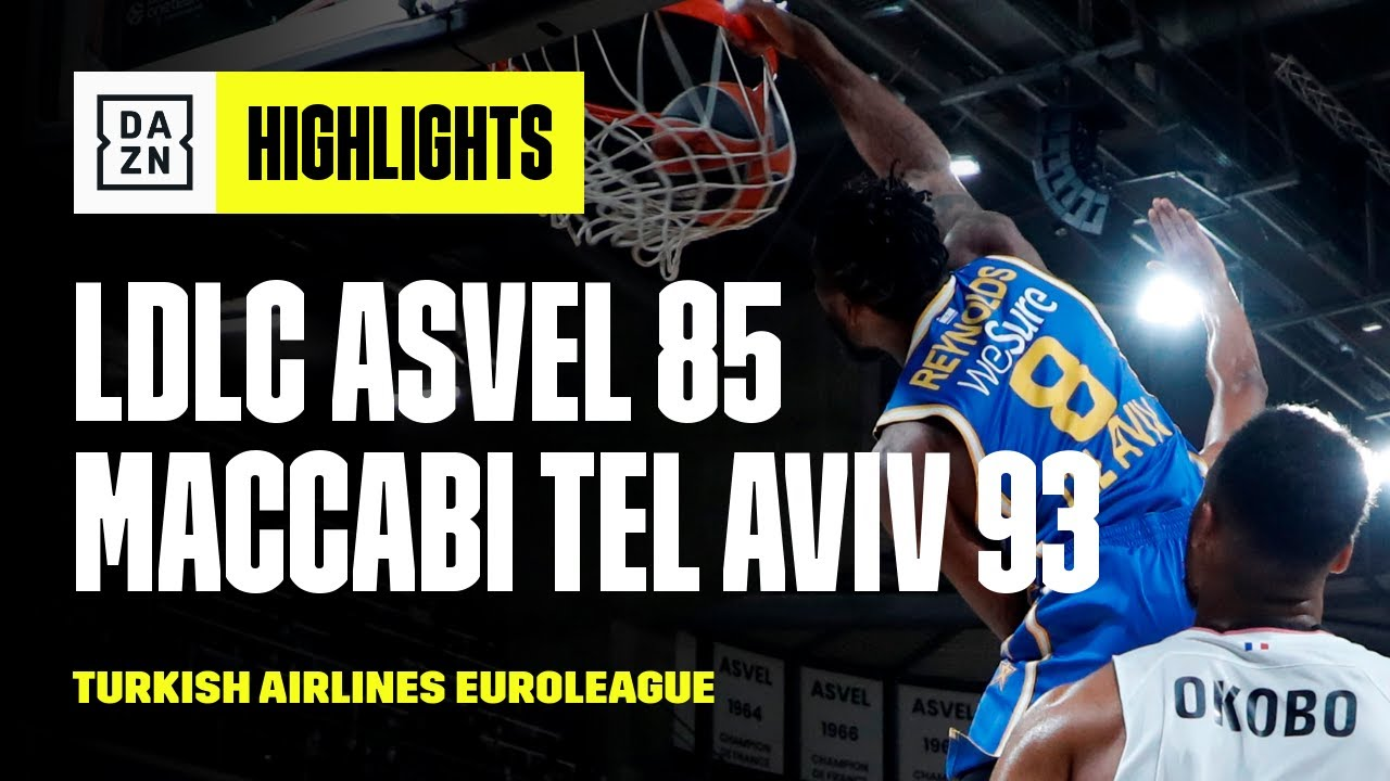 ASVEL Villeurbanne vs. Maccabi Tel Aviv (85-93) | Highlights | Turkish Airlines EuroLeague