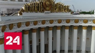 Смотреть видео Неожиданное открытие: на ВДНХ нашли фрагменты живописи неизвестного художника - Россия 24 онлайн