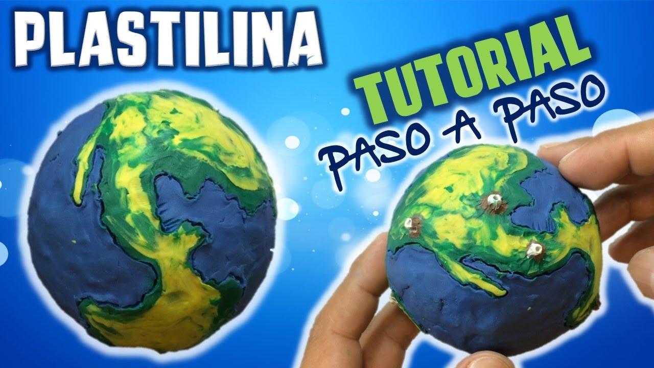 Como Hacer Un Planeta Tierra De Plastilina Polymer Clay Mi Mundo De Plastilina Youtube