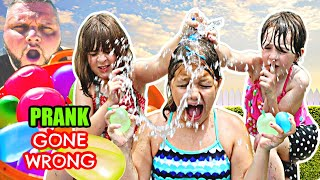 PRANKING OUR KIDS with ROTTEN EGGS WATER BALLOONS  PARENTS VS KIDS PRANK! EPIC FAIL
