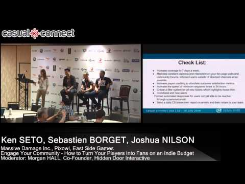 Engage Your Community - How to Turn Your Players Into Fans on a Budget   SETO, BORGET, NILSON, HALL