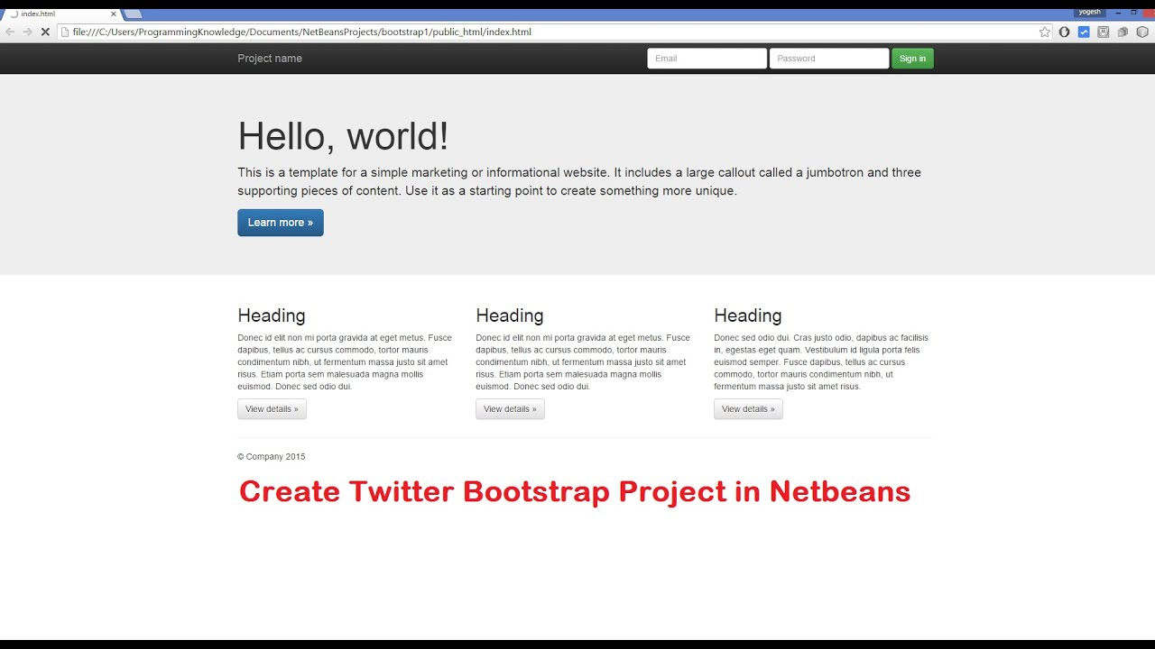 How To Create Twitter Bootstrap Project in Netbeans + Generate ...
