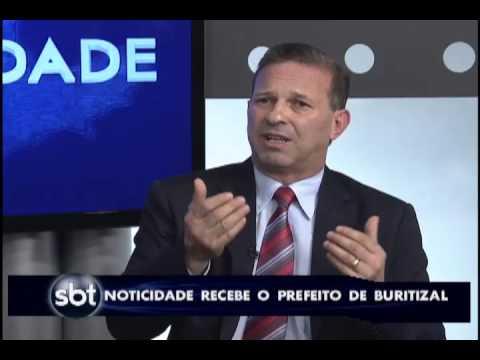 Prefeito de Buritizal David Abmael David em entrevista no SBT - Noticidade - Franca / Ribeirão Preto