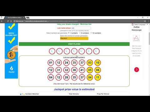 Euromillions Lottery Prediction For Draw 02-27-2018