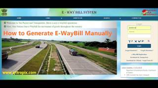 How To Generate E-WayBill Manually - in English