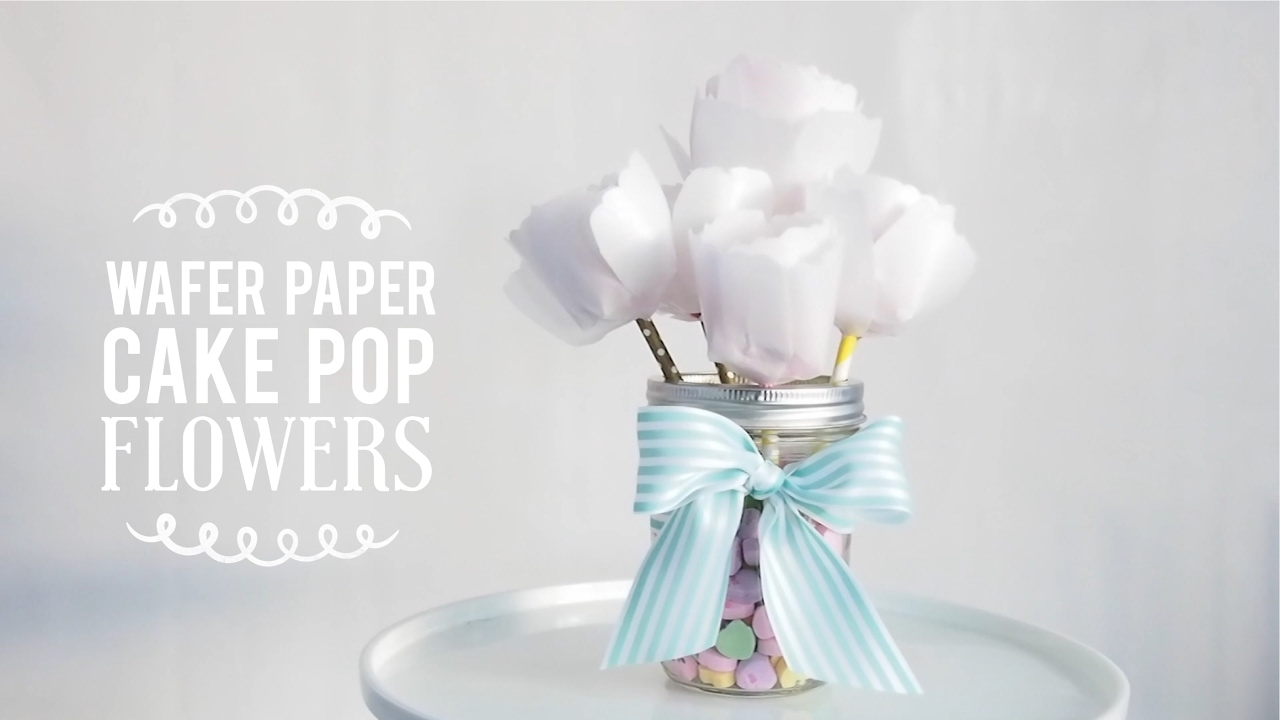 Wafer Paper Cake Pop Flowers Diy Valentines Gift Greggy Soriano