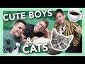 cat cafe gossip session ft. Colton Haynes & Kevin McHale