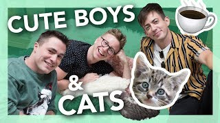 cat cafe gossip session ft. Colton Haynes & Kevin McHale